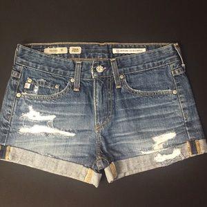AG Rachel Pixie Cut Off Shorts